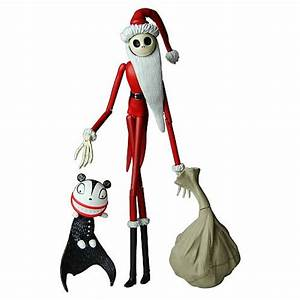 Nightmare Before Christmas Santa Jack Skellington Figure ...