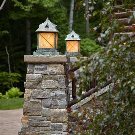 Porch Column Styles by Large Scale Stonehaven Lantern 14 Quot Wide Exterior Pier