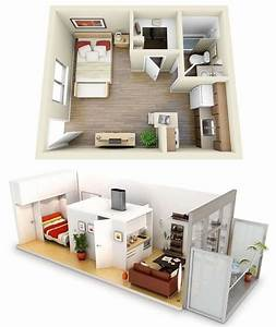 10, Ideas, For, One, Bedroom, Apartment, Floor, Plans