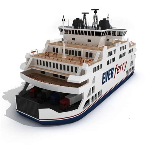 Ferry Boat Parts by Ferry Boat 3d Model C4d Cgtrader