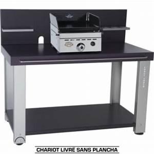 Chariot Plancha Forge Adour : forge adour table roulante fer pour planchas 450 600 ~ Nature-et-papiers.com Idées de Décoration