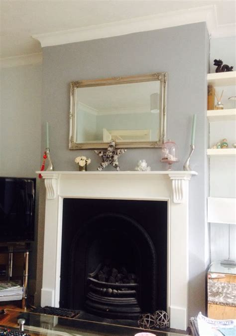 Warm Gray Paint Colors Living Room by Chimney Breast In Warm Pewter Dulux Our Home