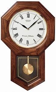 Clockway seiko gabriel chiming oak schoolhouse wall clock for Seiko chiming wall clock