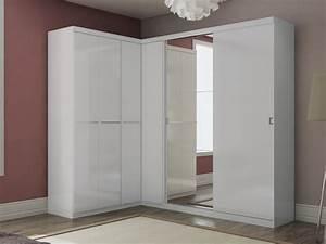 Armoire 6 Portes : armoire dressing d 39 angle olof avec miroir 6 portes ~ Teatrodelosmanantiales.com Idées de Décoration