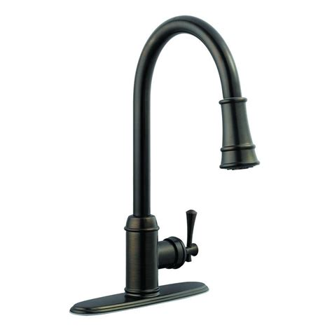brushed bronze kitchen faucet design house ironwood single handle pull out sprayer