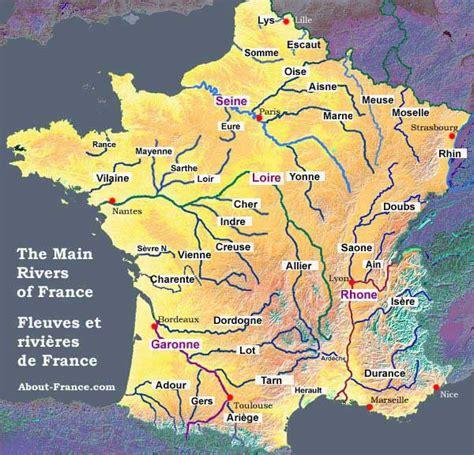 Carte Fleuve De by Carte Des Fleuves De 187 Vacances Arts Guides Voyages