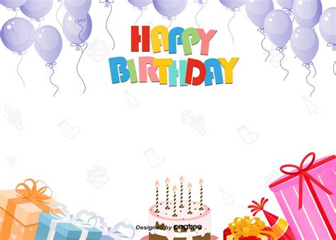 happy birthday background  colorful cute party colour