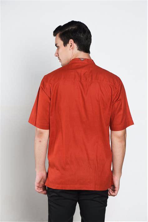 jual keren cool baju koko batik muslim pria kualitas premium tn 38 oren gelap di lapak