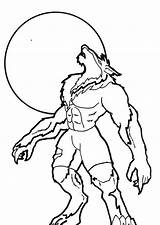 Werewolf Coloring Pages Howling Scary Wolf Moon Drawing Drawings Halloween Cartoon Sound Printable Easy Monster Print Cute Wolves Goosebumps Under sketch template