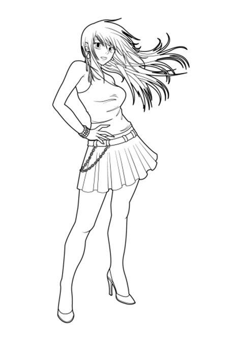 Sa sortie nationale en france a lieu. Coloriage Manga femme à imprimer sur COLORIAGES .info