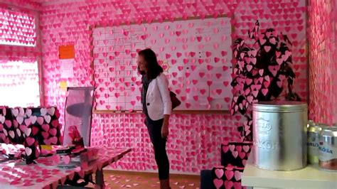 bureau post it office prank pink post it hearts