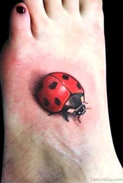 beautiful ladybug tattoos  foot