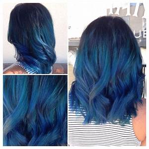 Vibrant Blue Ombr Using Joico Color Intensity Cobalt