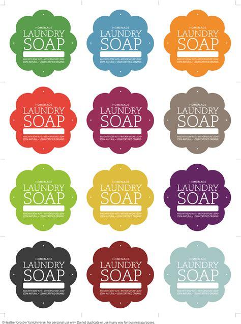 laundry soap labels yumuniverse