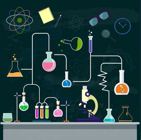 chemistry background experiment process decor lab tool
