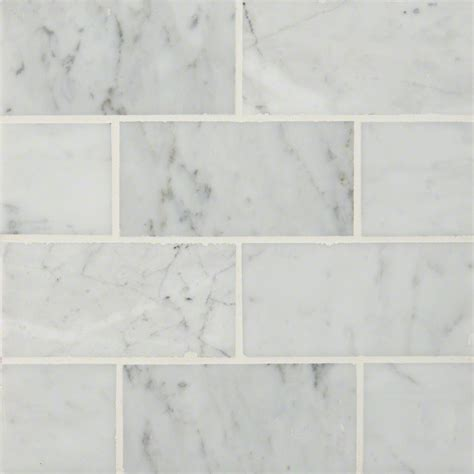 carrara white carrara white 3x6 polished colonial marble granite