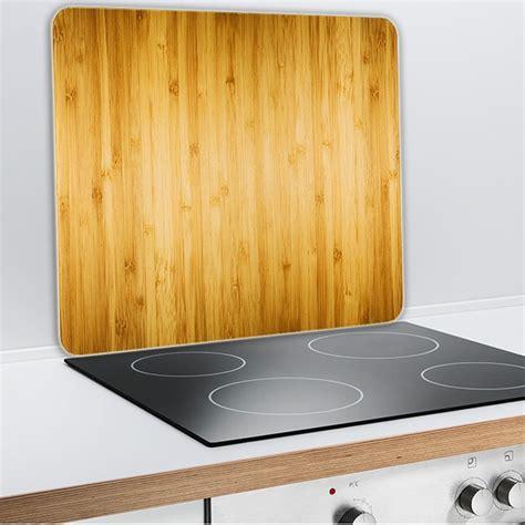 plaque protection murale cuisine protection murale en verre bois protection plaques de cuisson crédence organisation de la