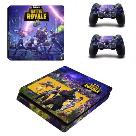 fortnite theme skin sticker  sony playstation  slim