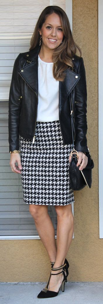 25+ best ideas about Houndstooth Skirt Outfit on Pinterest ...