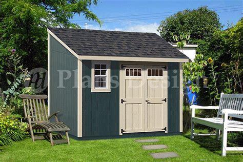 backyard deluxe storage shed plans blueprint lean  design dl ebay