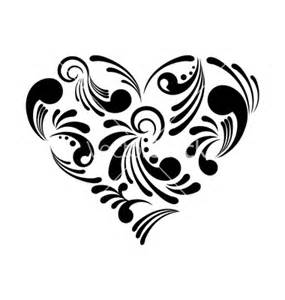 Easy Abstract Heart Drawings