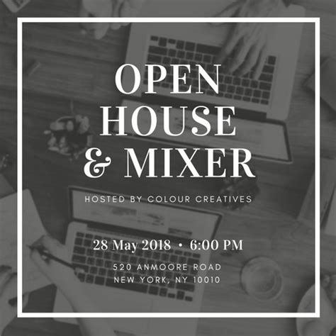 customize  open house invitation templates  canva