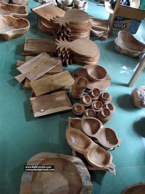teak wood utensils kitchen bali crafts spoon fork bowls indonesia tools