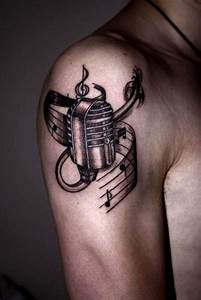 cool music tattoo on arm | BusBones