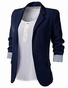 Navy Blue Blazer Women B00BYH9QM6 | Shopping is a girl's ...