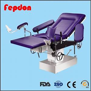 China Hospital Manual Hydraulic Medical Obstetric Bed