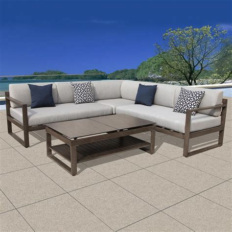 metal outdoor sectional modern outdoor ideas patio sectional sofa set furniture