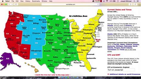 United States Time Zones Part 2
