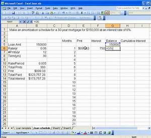 set up an amortization schedule