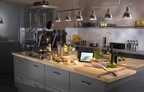organisation cuisine professionnelle bien concevoir îlot de cuisine leroy merlin