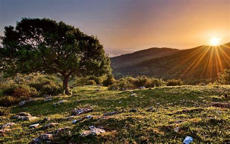 Sunset Mountain Landscape Wallpapers HD / Desktop and ...