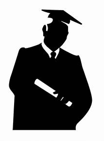 female graduate silhouette clip art
