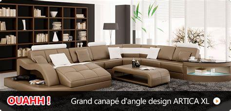 grand canapé d angle pas cher canapé pas cher canapés et mobilier design à petit prix
