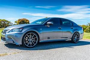 Lexus GS 350 custom wheels Vossen VFS 1 20x, ET , tire
