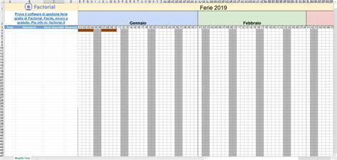 calendario annuale excel   piano ferie calendar