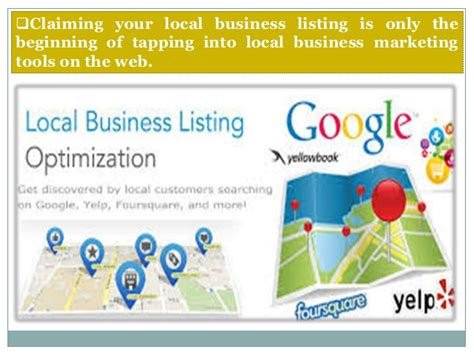 Local Marketing Services - local listing marketing services