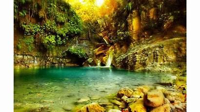 Tropical Wallpapers 4k Waterfall Cave Wallpapersafari Wallpapercave