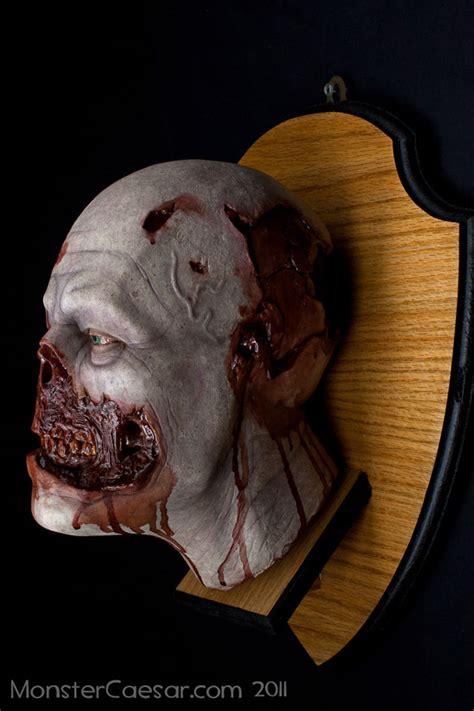 brutal mounted zombie head hunting trophy geekologie