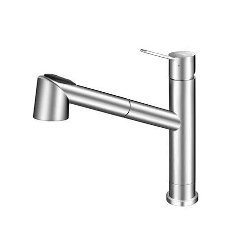 franke faucets kitchen shop franke bernard stainless steel 1 handle sold separately pull out kitchen faucet at lowes com