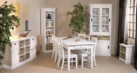 table a manger blanche et bois cuisine naturelle
