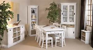 chaise bois blanc With meuble salle À manger avec chaise salle a manger bois blanc