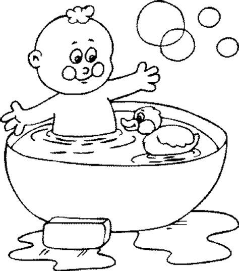coloriage bain et se laver gratuit 11862 famille enfants et b 233 b 233 s