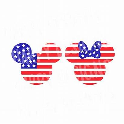 Mickey July Minnie Mouse Svg Fourth Flag