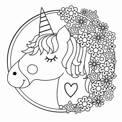Unicorn Colouring Pages Books Printable