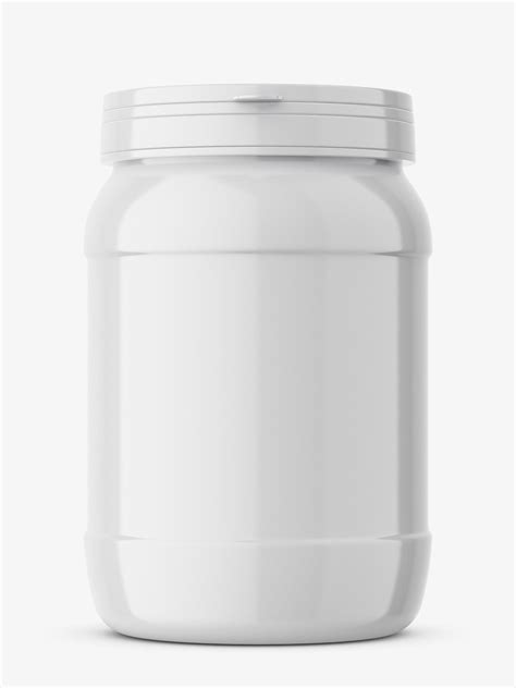 You can change cream and cap. Protein jar mockup / glossy - Smarty Mockups