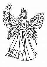 Coloring Fairy Queen Pages Realistic Cupcake Ballerina Faerie Colouring Printable Getcolorings sketch template